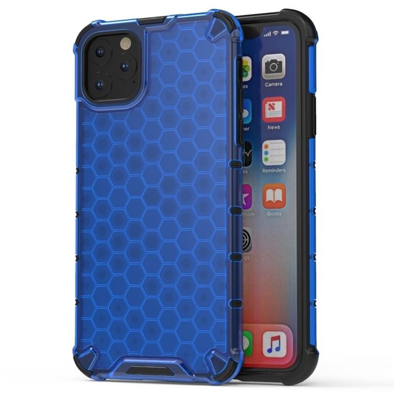 Mobiq honingraat armor hoesje iPhone 11 blauw - 1