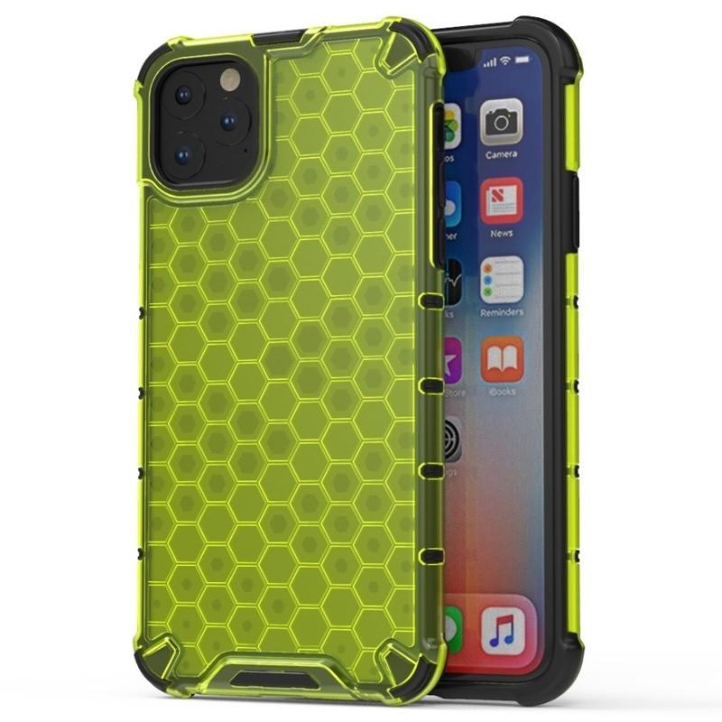 Mobiq honingraat armor hoesje iPhone 11 geel - 1