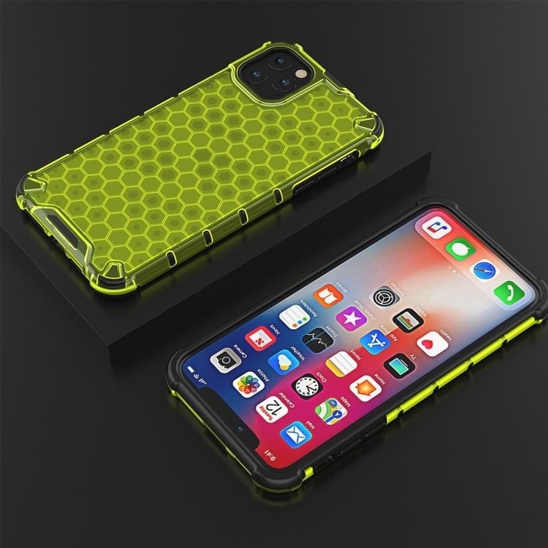 Mobiq honingraat armor hoesje iPhone 11 geel - 5