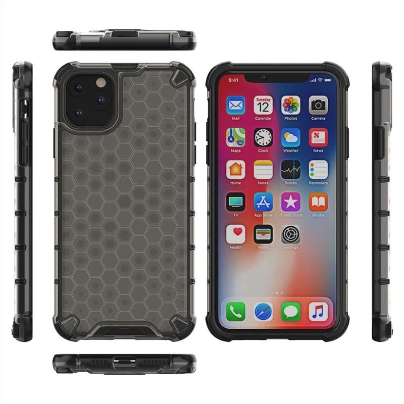 Mobiq honingraat armor hoesje iPhone 11 grijs - 3