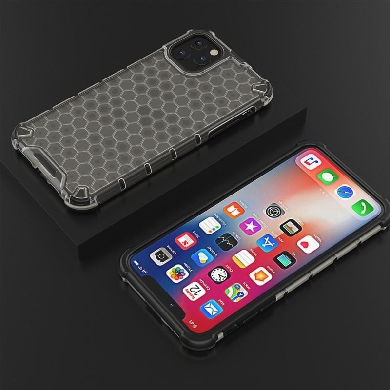 Mobiq honingraat armor hoesje iPhone 11 grijs - 5