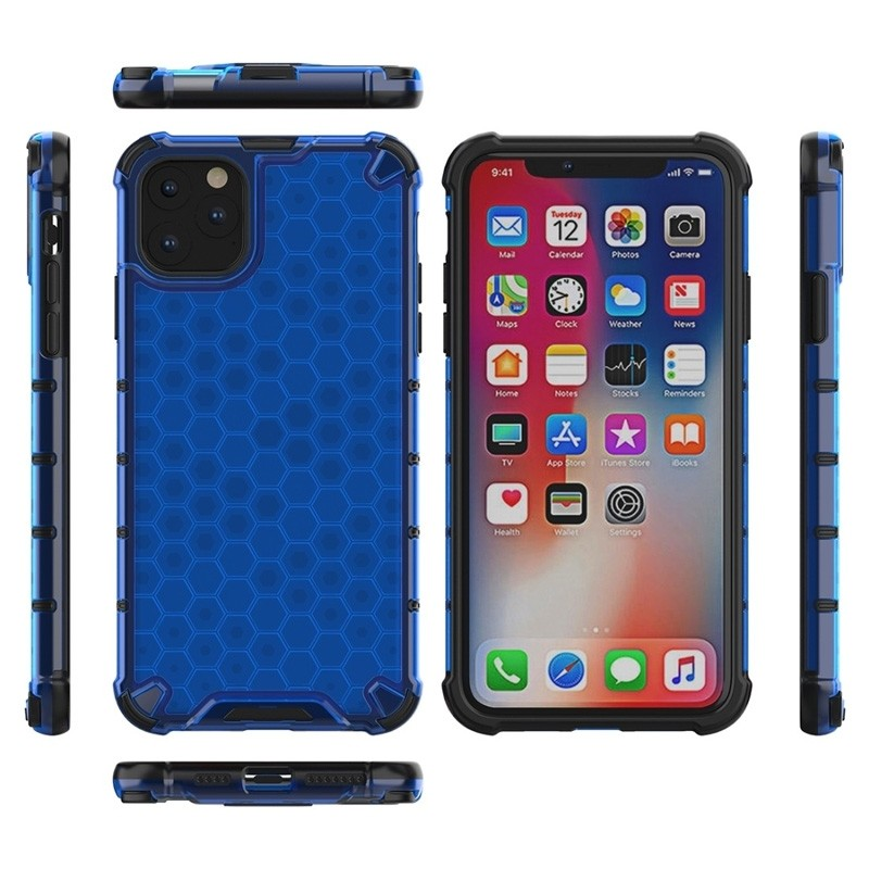 Mobiq honingraat armor hoesje iPhone 11 Pro Max blauw - 3