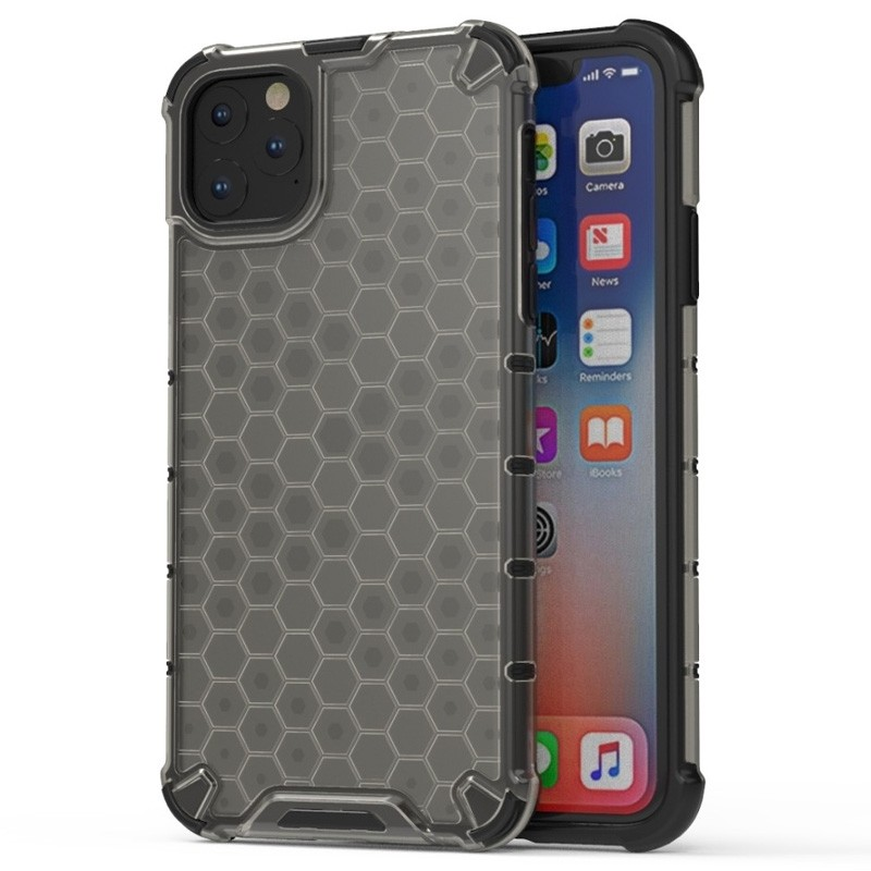 Mobiq honingraat armor hoesje iPhone 11 Pro Max grijs - 1