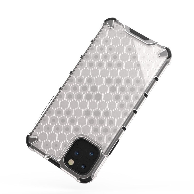 Mobiq honingraat armor hoesje iPhone 11 Pro transparant - 2