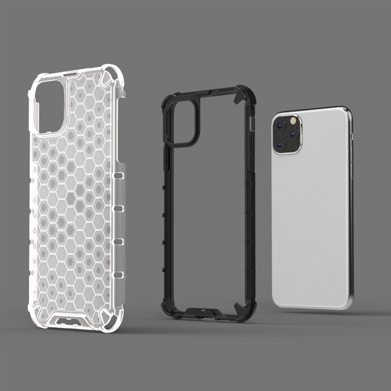 Mobiq honingraat armor hoesje iPhone 11 Pro transparant - 4