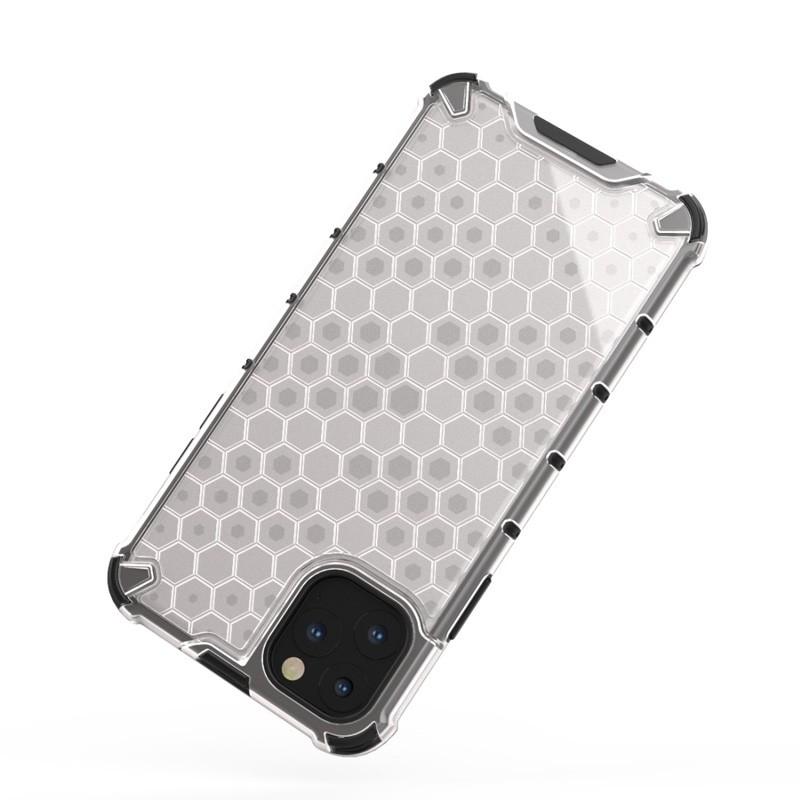 Mobiq honingraat armor hoesje iPhone 11 transparant - 2