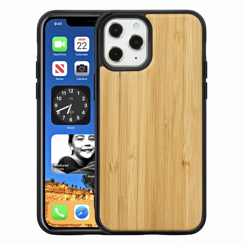 Mobiq - Houten Hoesje iPhone 13 Pro Bamboe - 1