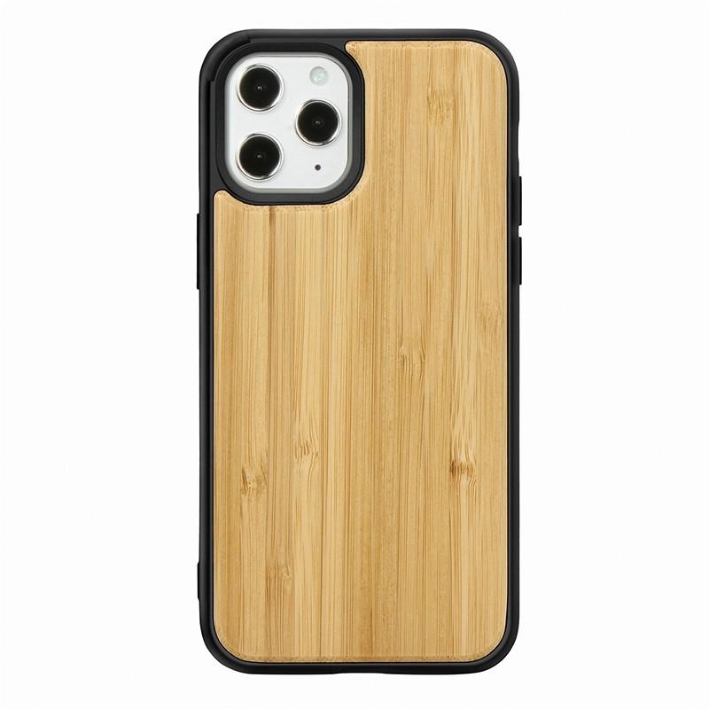 Mobiq - Houten Hoesje iPhone 13 Pro Bamboe - 2