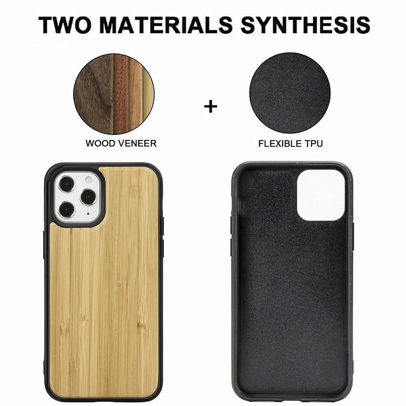 Mobiq - Houten Hoesje iPhone 13 Pro Bamboe - 5