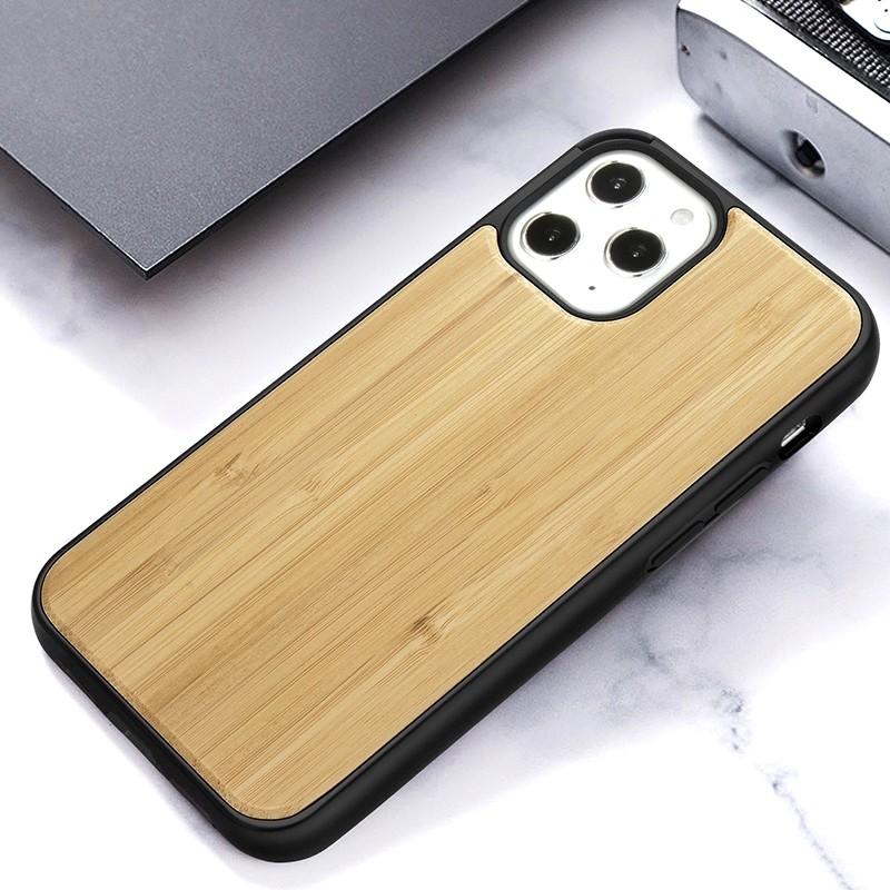 Mobiq- Houten Hoesje iPhone 13 Pro Max Bamboe - 8