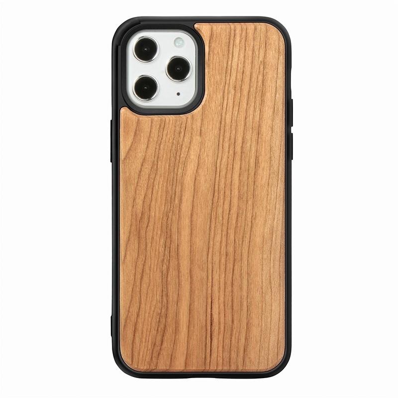 Mobiq - Houten Hoesje iPhone 13 Pro Max Kersen - 2