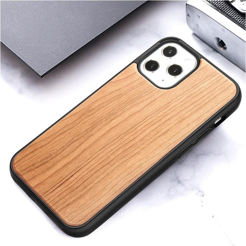 Mobiq - Houten Hoesje iPhone 13 Pro Max Kersen - 8