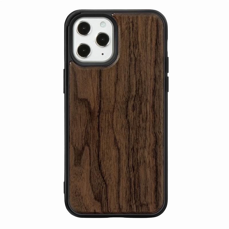 Mobiq - Houten Hoesje iPhone 13 Pro Max Walnoot - 2