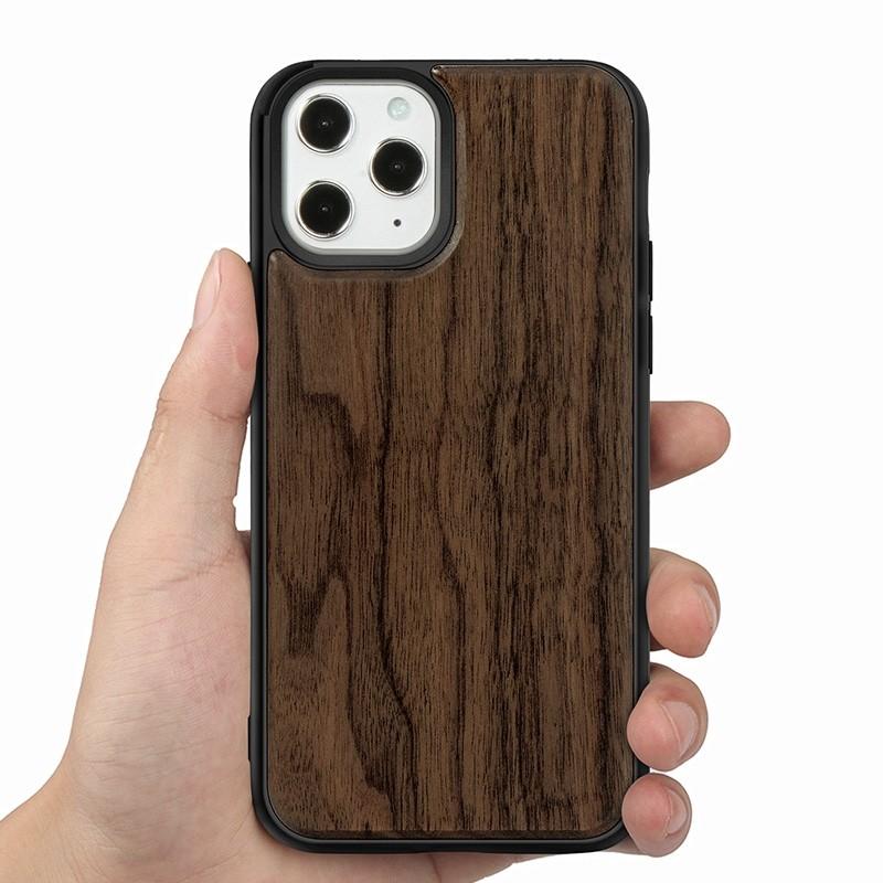 Mobiq - Houten Hoesje iPhone 13 Pro Max Walnoot - 7