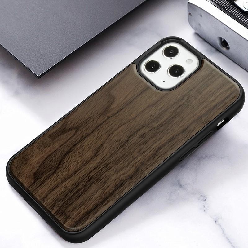 Mobiq - Houten Hoesje iPhone 13 Pro Max Walnoot - 8