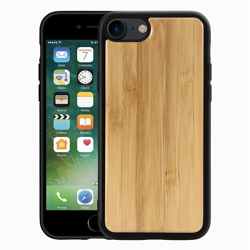 Mobiq Houten Hoesje iPhone SE (2020)/8/7 Bamboe - 1