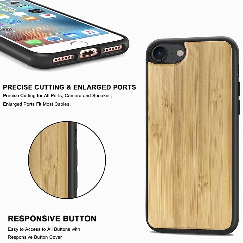 Mobiq Houten Hoesje iPhone SE (2020)/8/7 Bamboe - 8