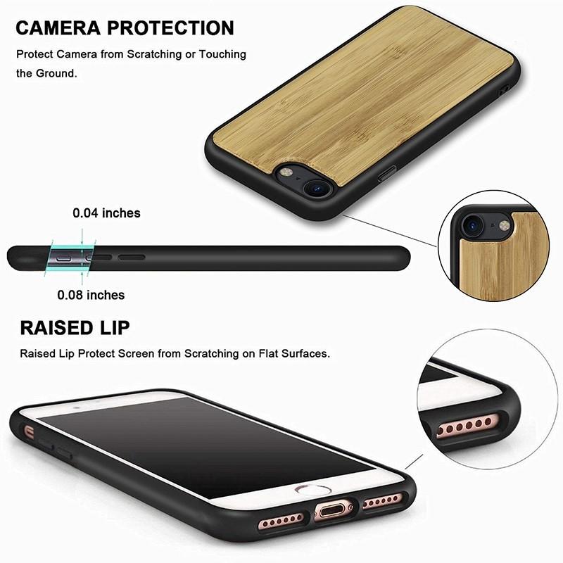 Mobiq Houten Hoesje iPhone SE (2020)/8/7 Bamboe - 6