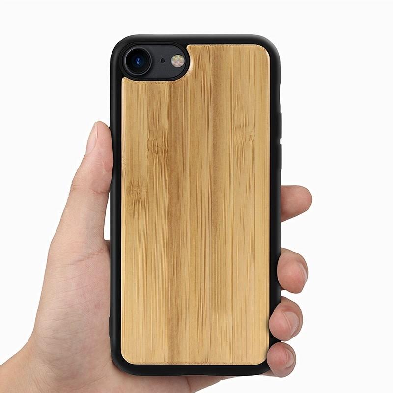 Mobiq Houten Hoesje iPhone SE (2020)/8/7 Bamboe - 4