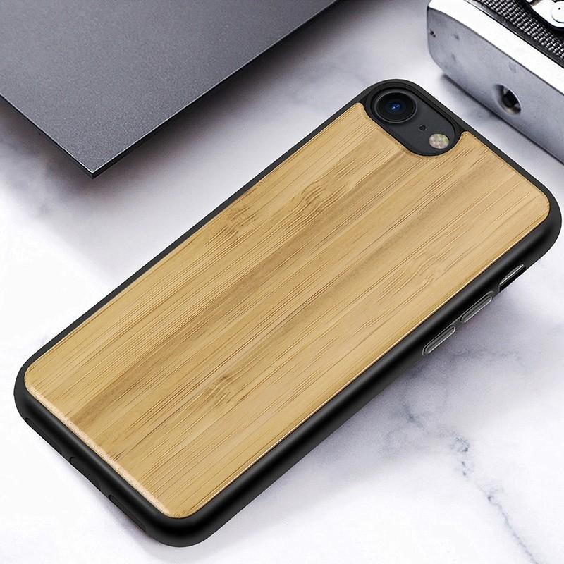 Mobiq Houten Hoesje iPhone SE (2020)/8/7 Bamboe - 5