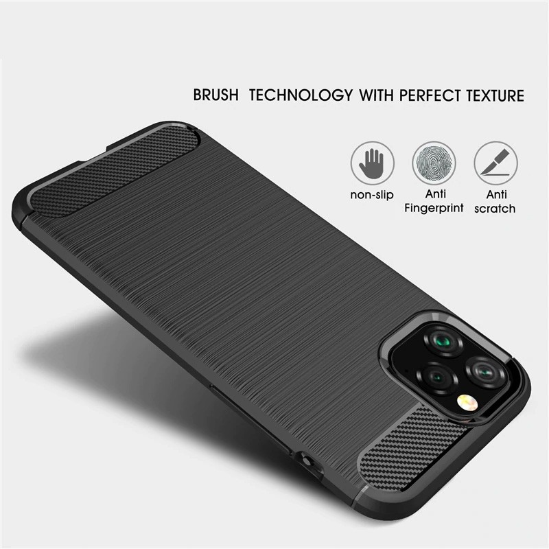 Mobiq Hybrid Carbon TPU Hoesje iPhone 11 Pro Blauw - 2