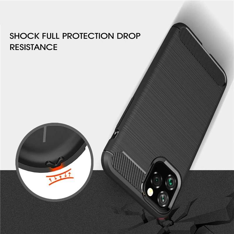 Mobiq Hybrid Carbon TPU Hoesje iPhone 11 Pro Max Rood - 5