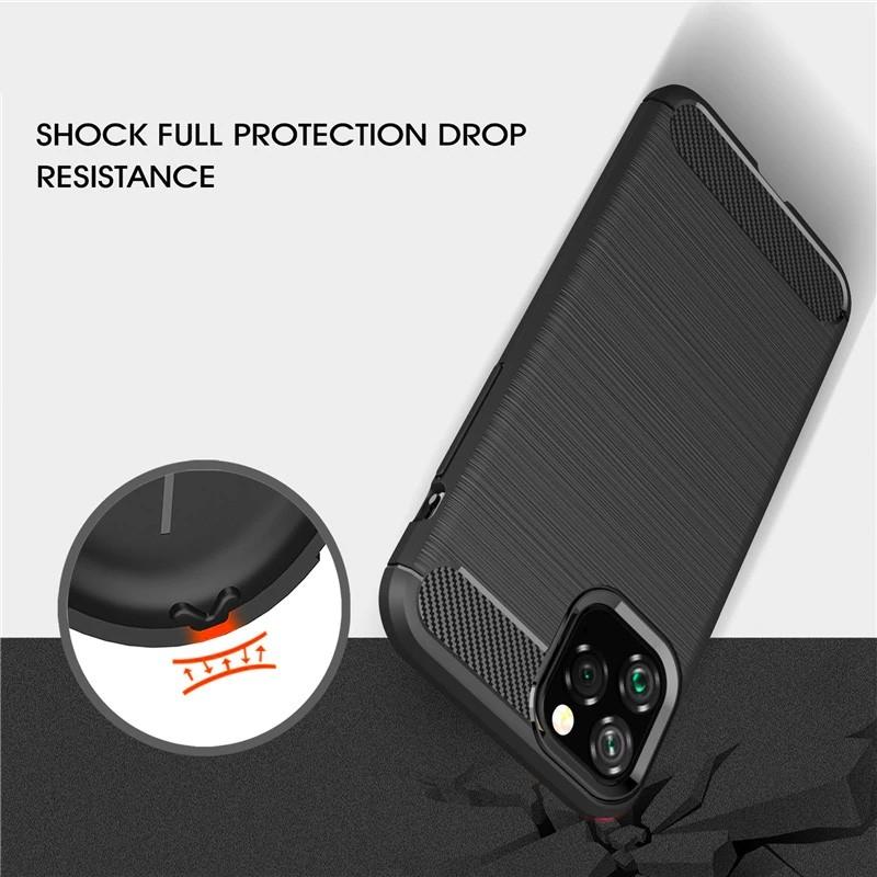 Mobiq Hybrid Carbon TPU Hoesje iPhone 11 Pro Max Blauw - 5