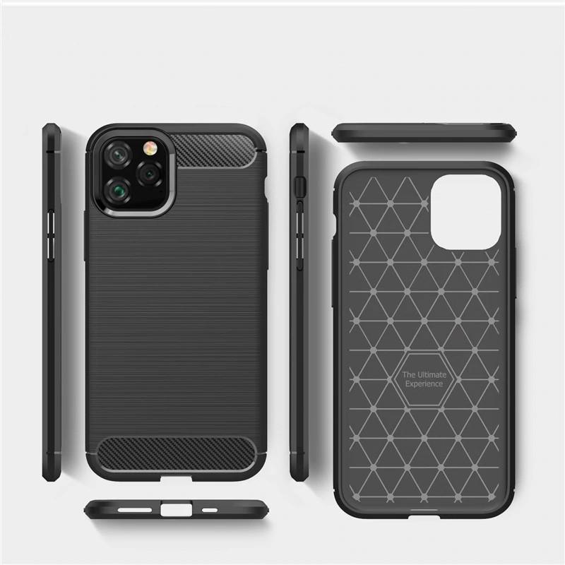 Mobiq Hybrid Carbon TPU Hoesje iPhone 11 Pro Max Blauw - 6