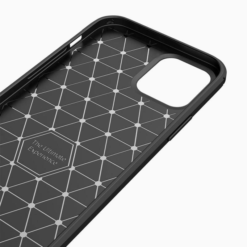 Mobiq Hybrid Carbon Hoesje iPhone 12 Mini Zwart - 5