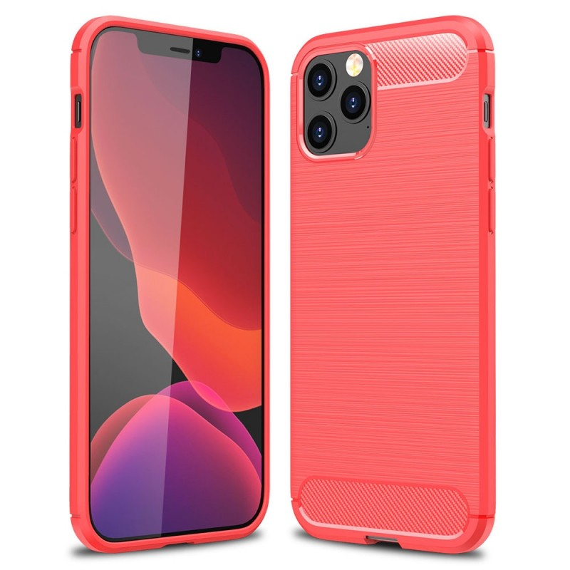 Mobiq Hybrid Carbon Hoesje iPhone 12 Pro Max Rood - 1