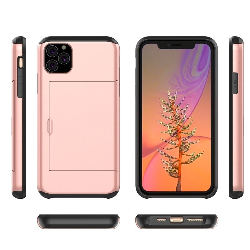 Mobiq Hybrid Card Case iPhone 11 Pro Roze - 4