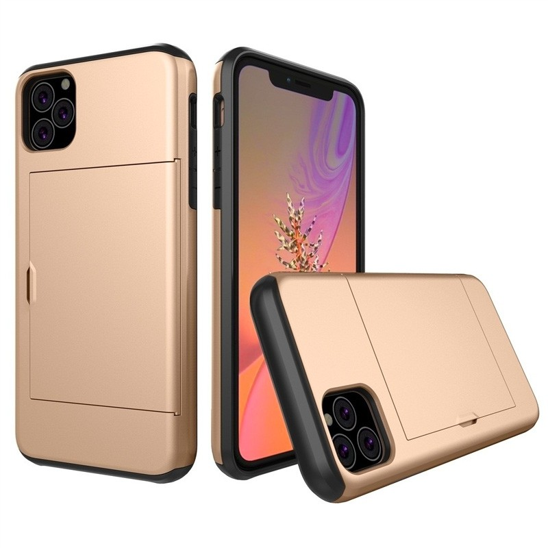 Mobiq Hybrid Card Case iPhone 11 Pro Max Goud - 1