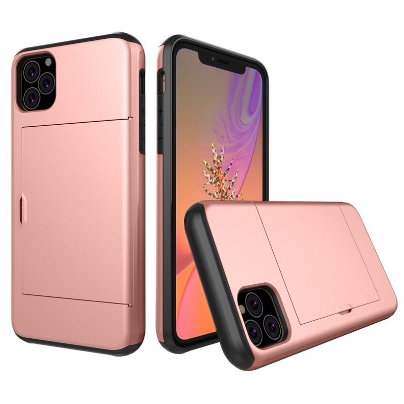 Mobiq Hybrid Card Case iPhone 11 Pro Max Roze - 1