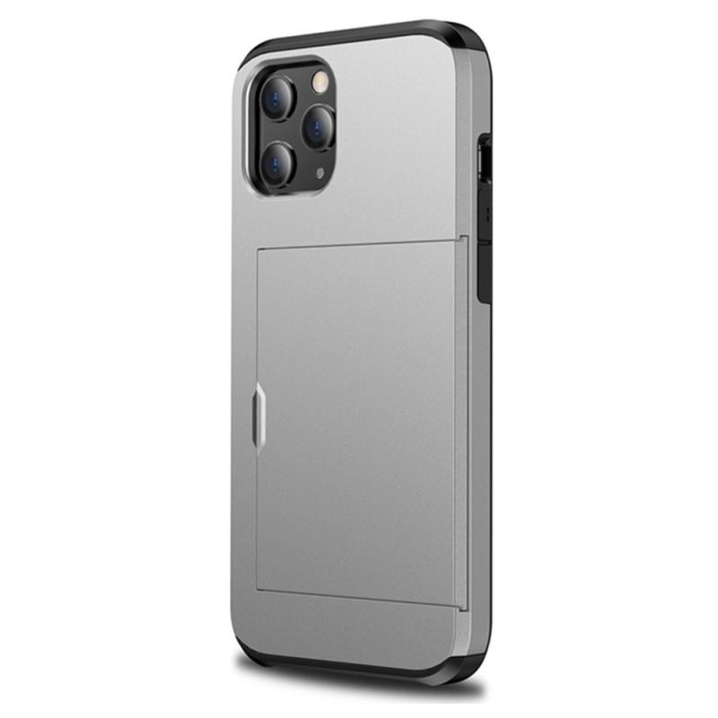 Mobiq Hybrid Card Hoesje iPhone 12 / 12 Pro Grijs - 1