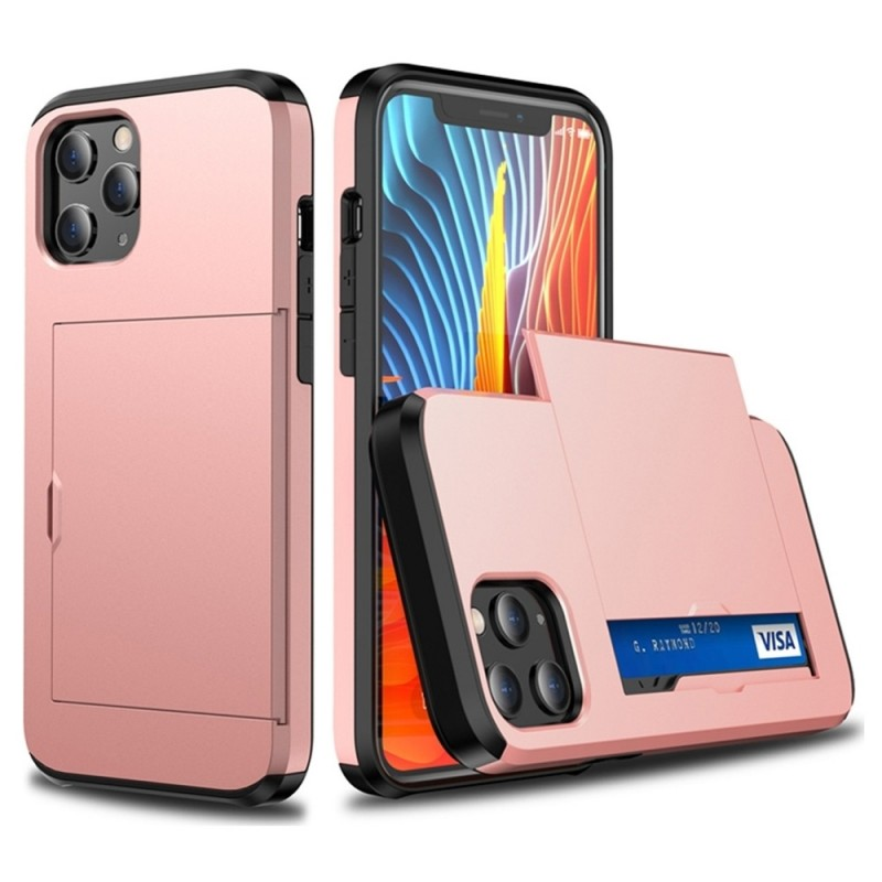 Mobiq Hybrid Card Hoesje iPhone 12 / 12 Pro Rose Gold - 2