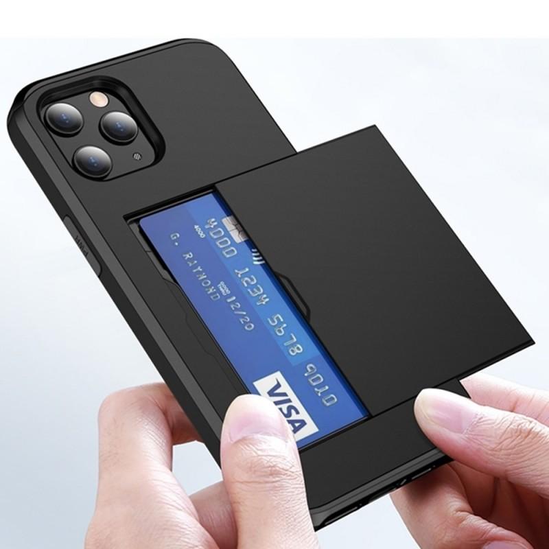 Mobiq Hybrid Card Hoesje iPhone 12 / 12 Pro Zwart - 6