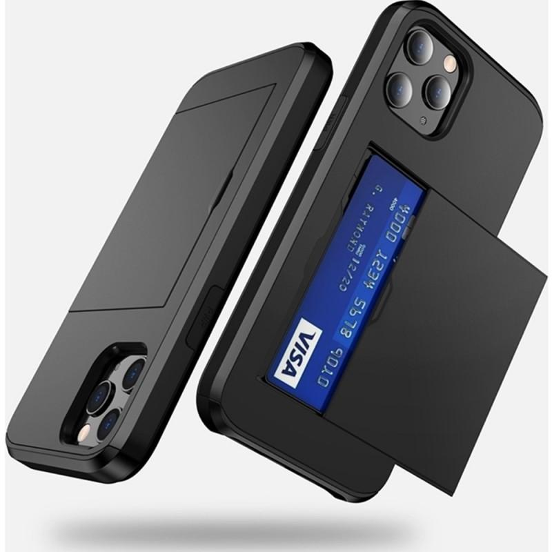 Mobiq Hybrid Card Hoesje iPhone 12 / 12 Pro Zwart - 4