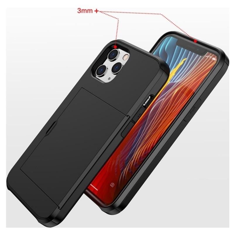 Mobiq Hybrid Card Hoesje iPhone 12 / 12 Pro Zwart - 5