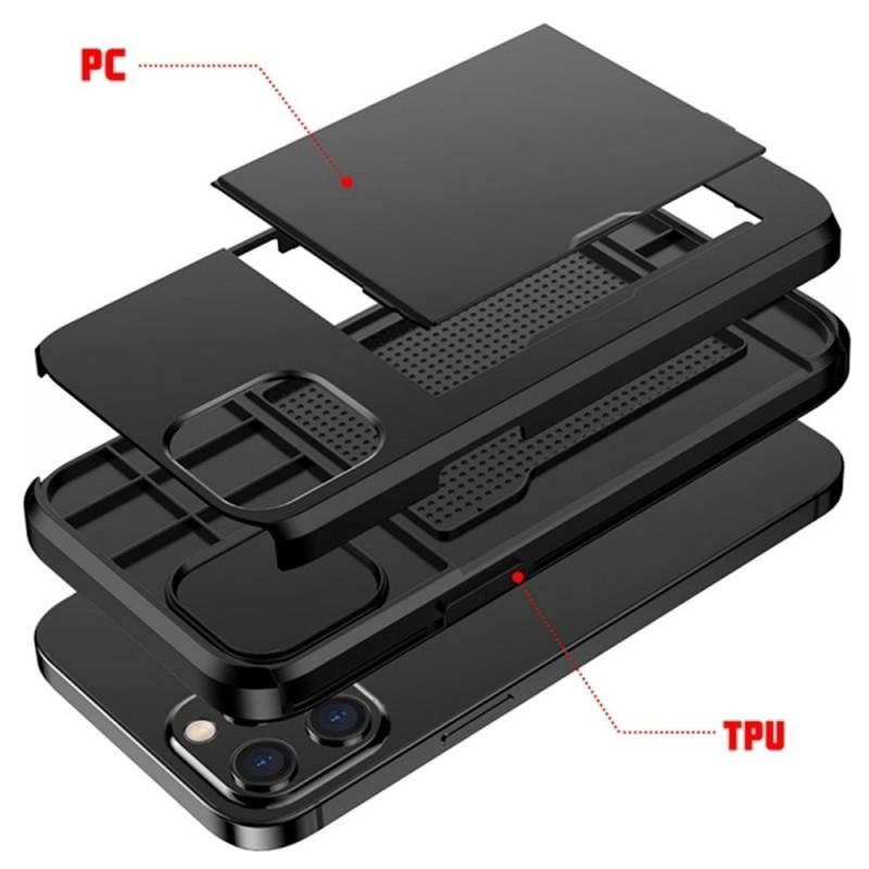 Mobiq Hybrid Card Hoesje iPhone 12 / 12 Pro Zwart - 7