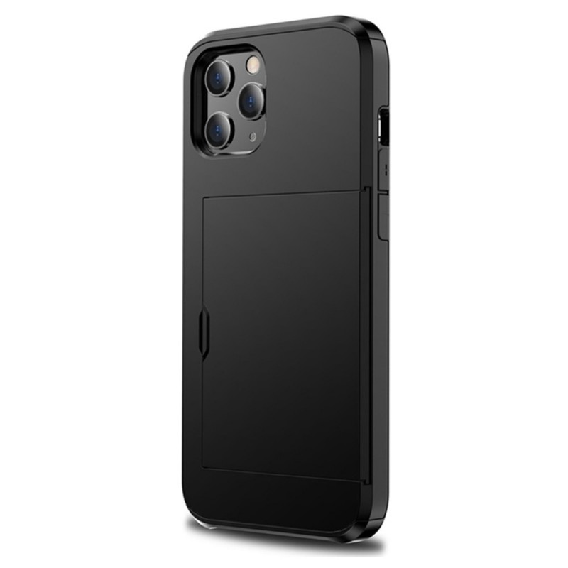 Mobiq Hybrid Card Hoesje iPhone 12 / 12 Pro Zwart - 1