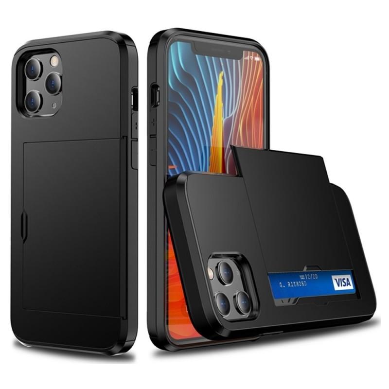 Mobiq Hybrid Card Hoesje iPhone 12 / 12 Pro Zwart - 2