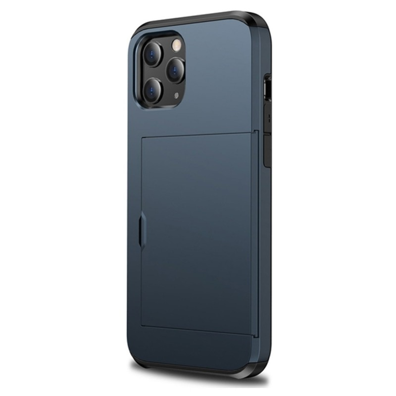 Mobiq Hybrid Card Hoesje iPhone 12 Mini Navy Blauw - 1