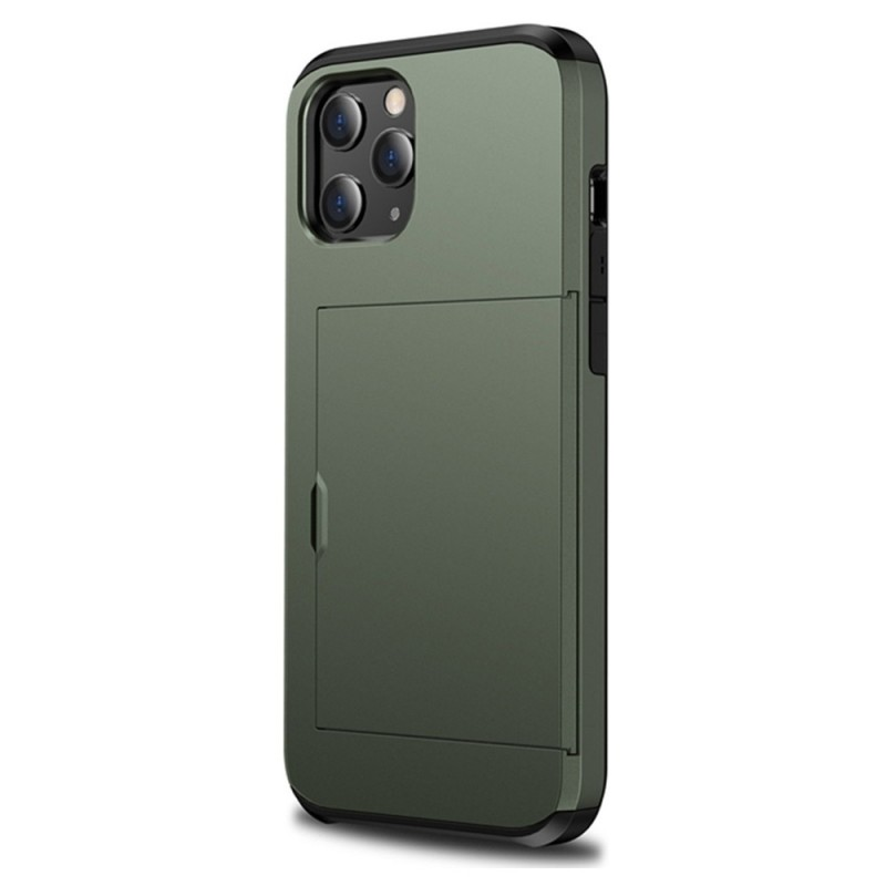 Mobiq Hybrid Card Hoesje iPhone 12 Mini Groen - 1