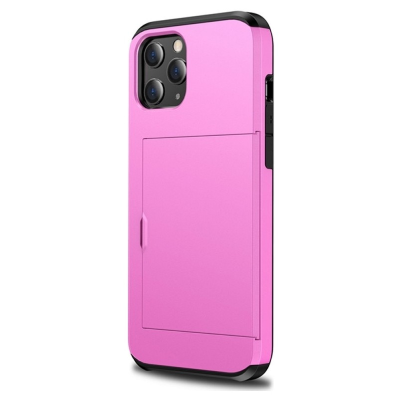 Mobiq Hybrid Card Hoesje iPhone 12 Mini Roze - 1