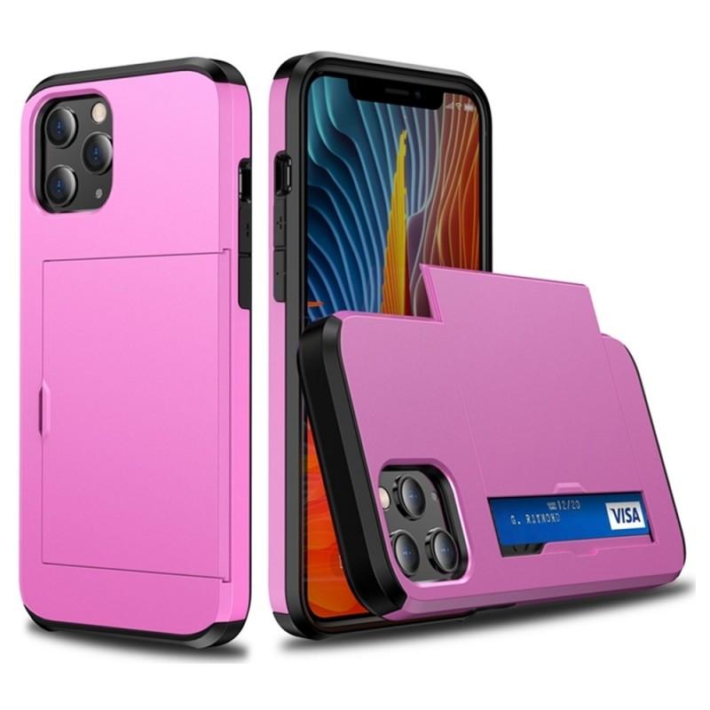 Mobiq Hybrid Card Hoesje iPhone 12 Mini Roze - 2