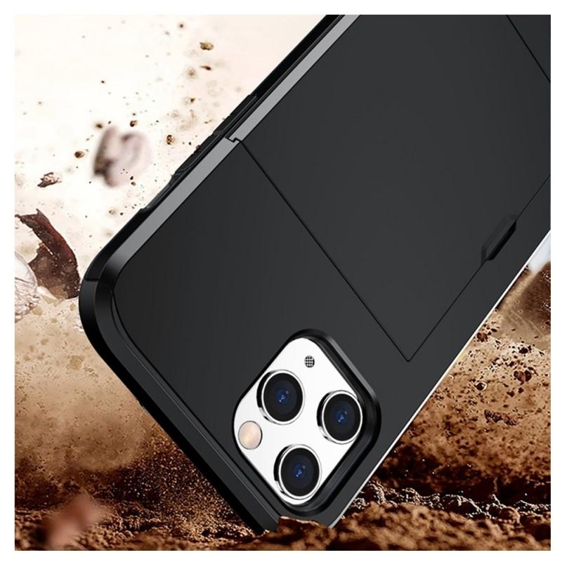 Mobiq Hybrid Card Hoesje iPhone 12 Mini Grijs - 4