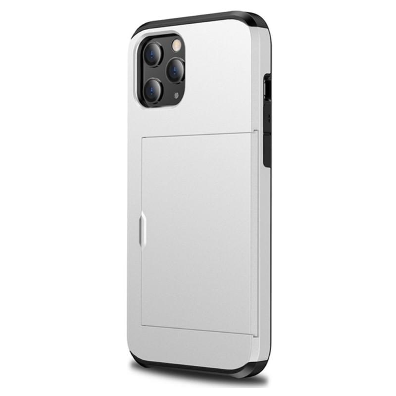 Mobiq Hybrid Card Hoesje iPhone 12 Mini Wit - 1