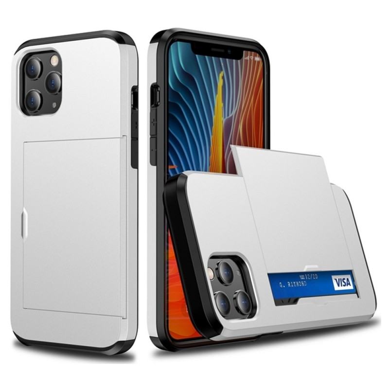 Mobiq Hybrid Card Hoesje iPhone 12 Mini Wit - 2