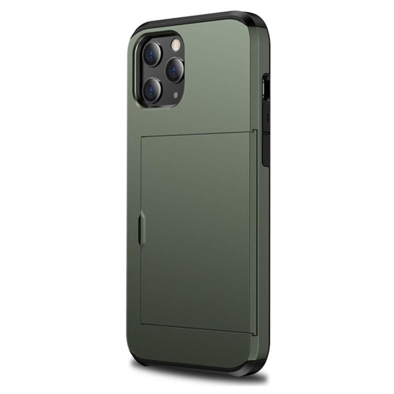 Mobiq Hybrid Card Hoesje iPhone 12 Pro Max Groen - 1