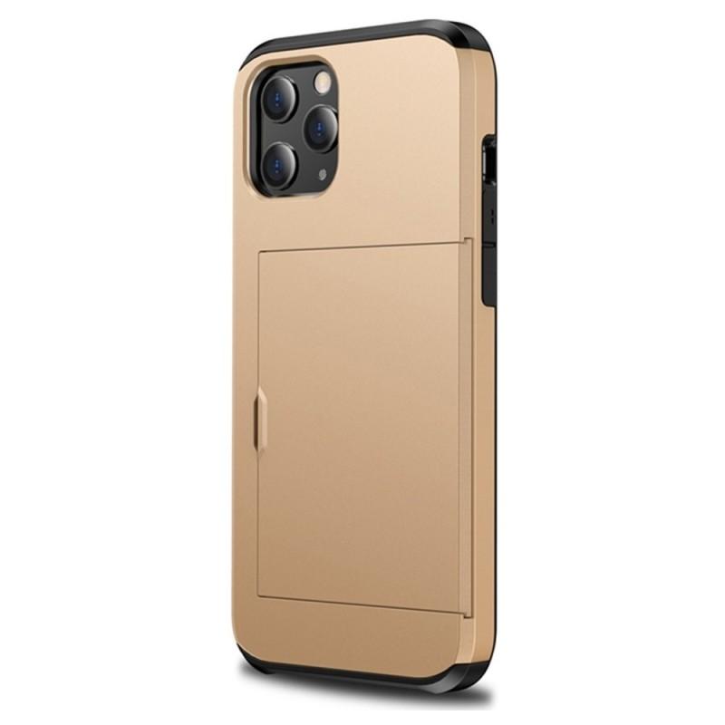 Mobiq Hybrid Card Hoesje iPhone 13 Mini Goud - 2